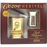 Mehmet Efendi Turkish Coffee 8.8oz w/ Stainless Steel Coffee Pot