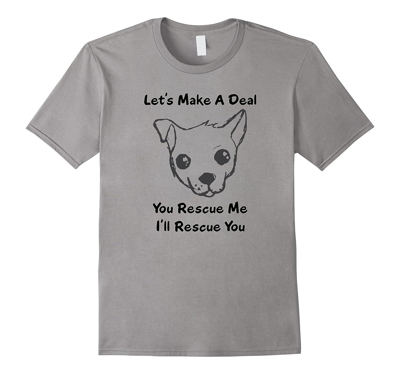 Humane Shelter Dog Puppy Pet Rescue Adoption tee t-shirt-TD