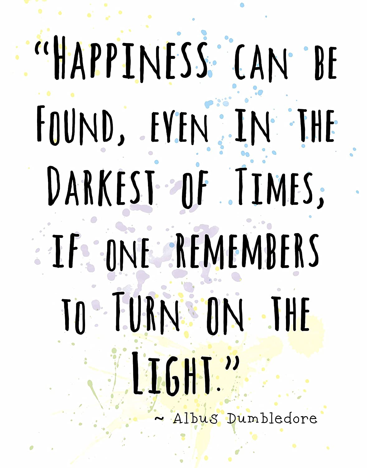 Wall Art Print by ArtDash ~ ALBUS DUMBLEDORE Inspirational Quotes: (8\