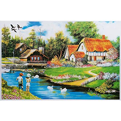 "Jigsaw Puzzles for Adults 1000 Piece Large Puzzle, Couple Fishing Jigsaw Puzzle - 27.56"" x 19.69"": Toys & Games"