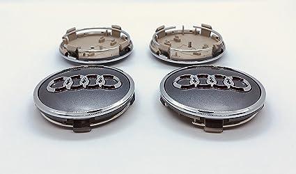 Juego de cuatro tapacubos para llantas de aluminio, diseño con el logo de Audi,