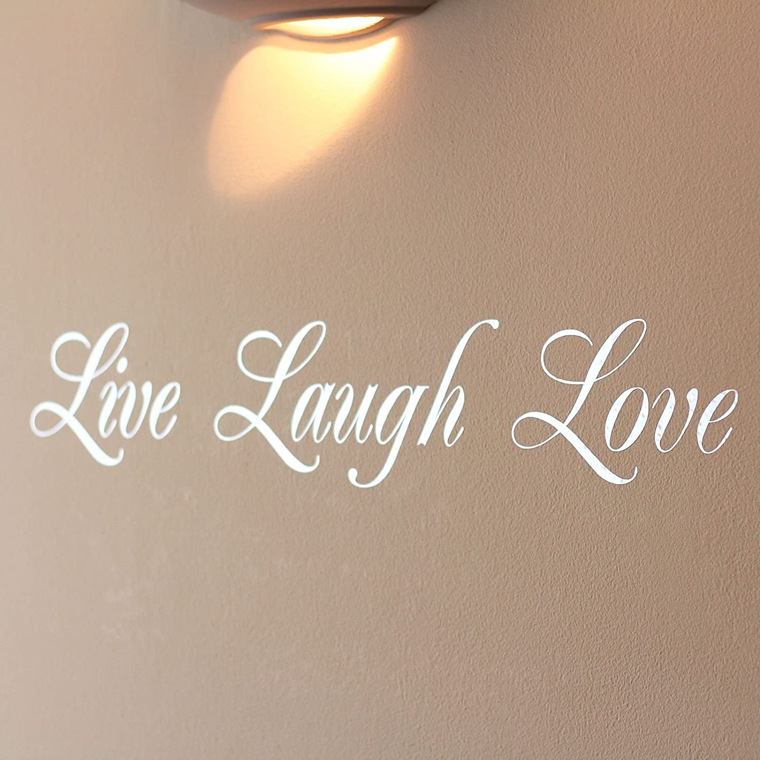 Mirror Silver Live Laugh Love Wall Art Sticker: Amazon.co.uk: Kitchen U0026 Home
