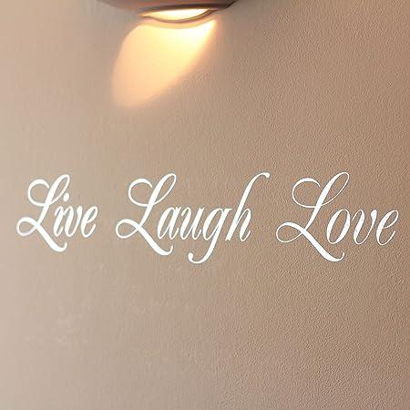 Mirror Silver Live Laugh Love Wall Art Sticker & Mirror Silver Live Laugh Love Wall Art Sticker: Amazon.co.uk: DIY ...