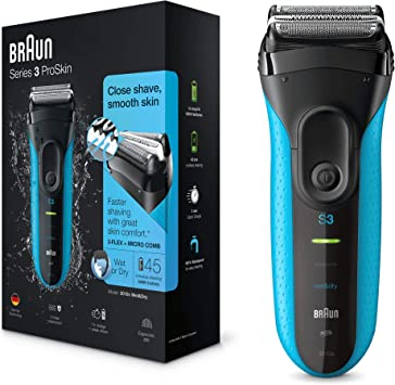 Braun Series 3 ProSkin 3010 s Afeitadora eléctrica hombre, Afeitadora Barba Inalámbrica y Recargable, Wet&Dry, Máquina de Afeitar para Hombre, Negro/Azul: Amazon.es: Salud y cuidado personal