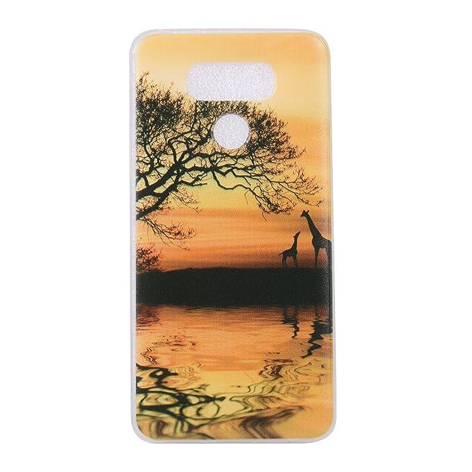 COZY HUT Cover Huawei P8 Lite 2017 3D Fashion Ultra Slim Sottile TPU Cover Soft Gel Silicone Protettivo Skin Back Cover per Huawei P8 Lite 2017 Mantra Nero