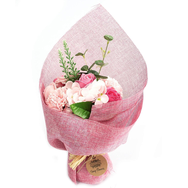 Standing Soap Flower Bouquet Pink