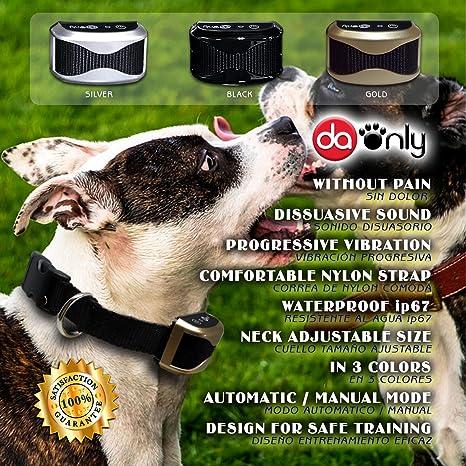 Collar antiladridos AUTOMÁTICO, collar adiestramiento SIN DESCARGAS, collar electrico para perros, correa regulable de nylon, collar para perros pequeños, ...