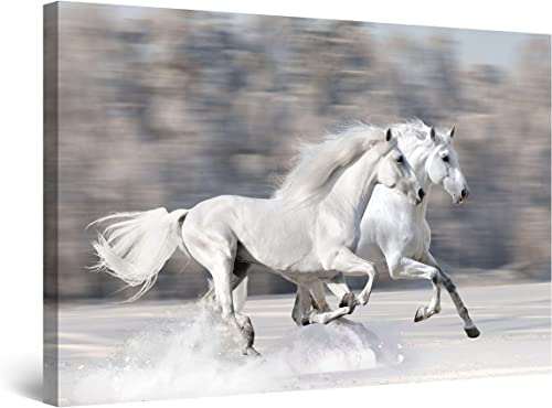 Startonight Wall Art Canvas Horses Running Fast