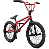 Mongoose Legion L20 Freestyle BMX Bike Line for Beginner-Level to Advanced Riders, Steel Frame, 20-Inch Wheels, Red