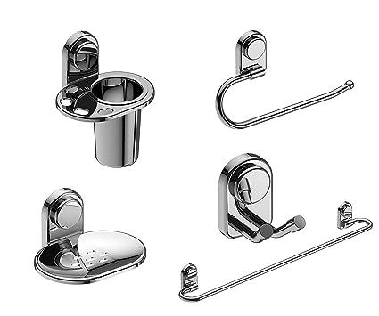 amity cute bath fittings bathroom accessories set pack of 5 robe hook - Bathroom Accessories