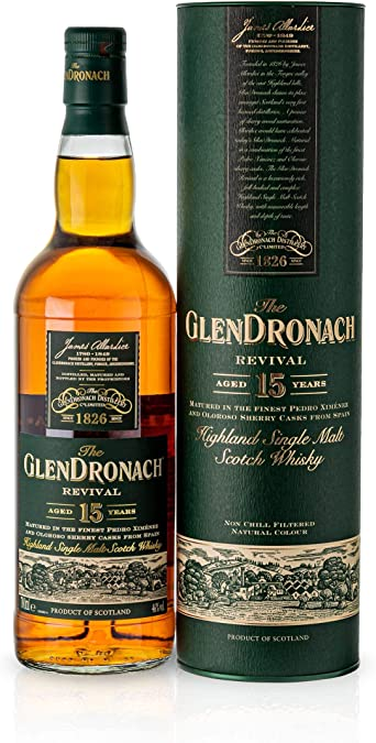 The GlenDronach The Glendronach 15 Years Old Revival Highland Single Malt Scotch Whisky 46% Vol. 0,7L In Giftbox - 700 ml