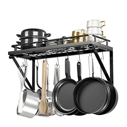 Amazon Com Pot Rack Organizer With Upgraded Hardware Support