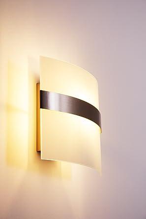 Wand Leuchte Avellino Mit Echtglas Lampenschirm   Wandlampe Mit Schalter    Stilvolle Wandbeleuchtung Für Wohnzimmer,
