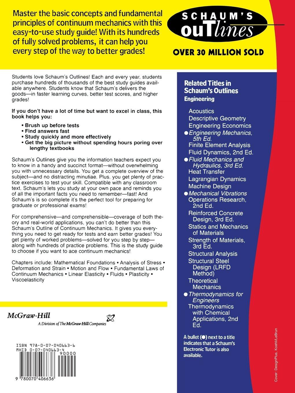 buy schaum s outline of continuum mechanics schaum s outlines book rh amazon in Mechanical Pencils Mechanic Certificate