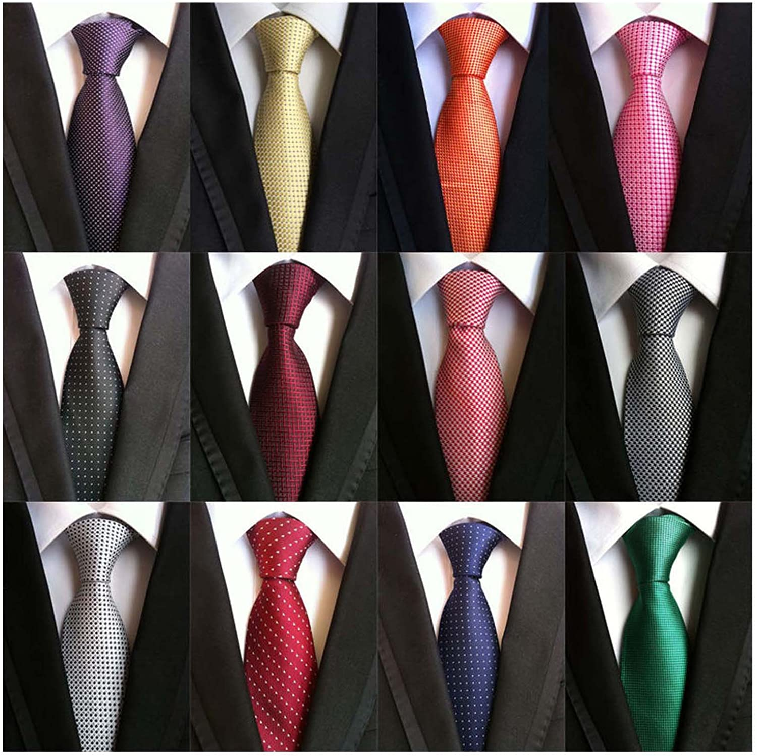 LOT 50 PCS 100/% SILK NECKTIES DRESS SUIT NECK TIE QUILT CRAFT TIES FREE SHIPPING
