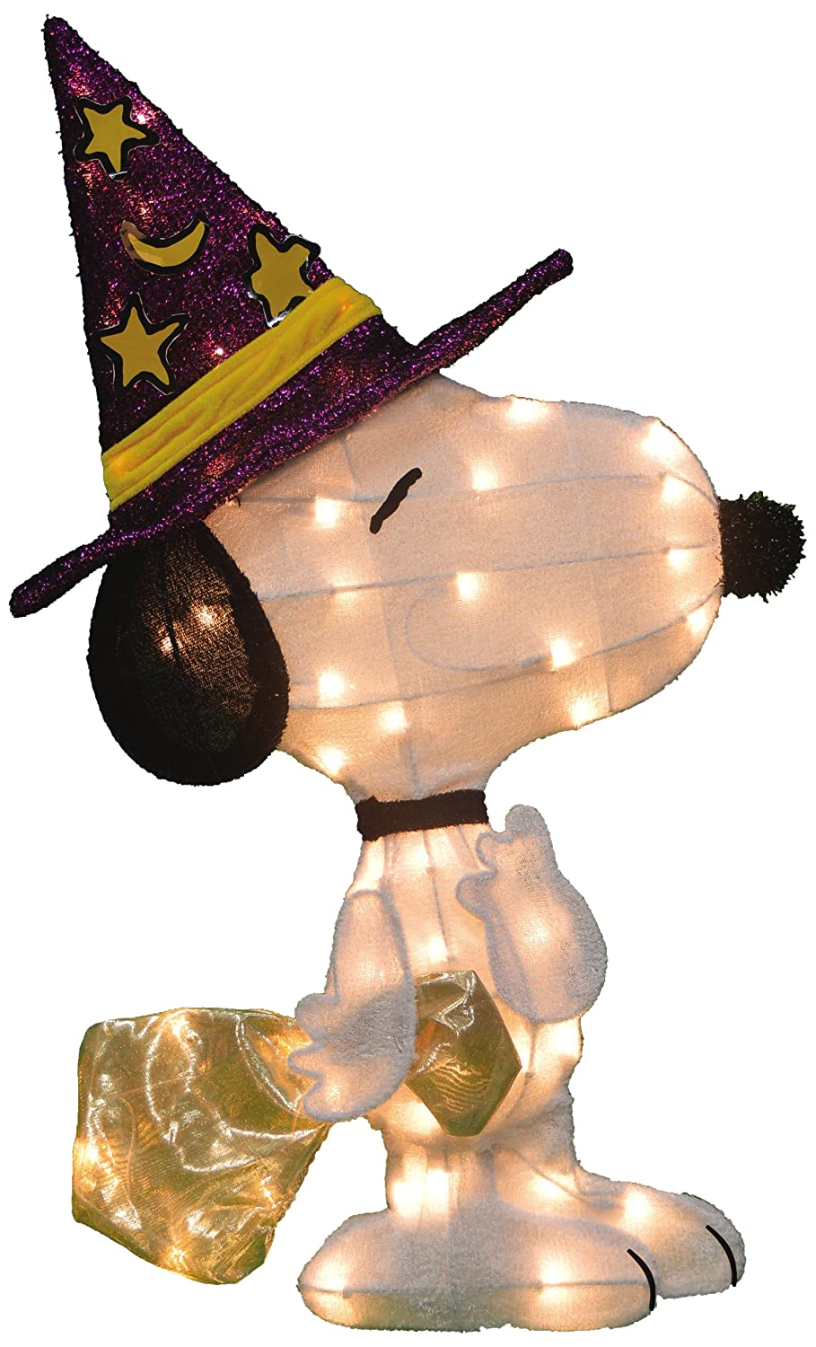 Product Works 28-Inch Pre-Lit 2D Peanuts Snoopy Halloween Yard Decoration ProductWorks 20213_L2D