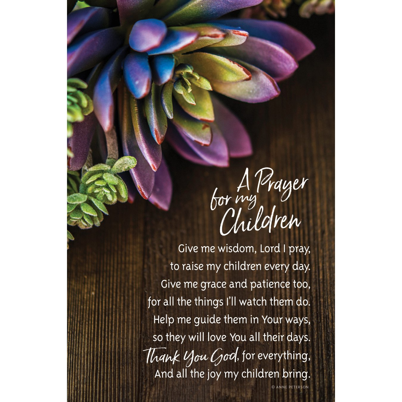 Dexsa A Prayer for My Children Organic Brights 6 x 9 Wood Plaque with Easel