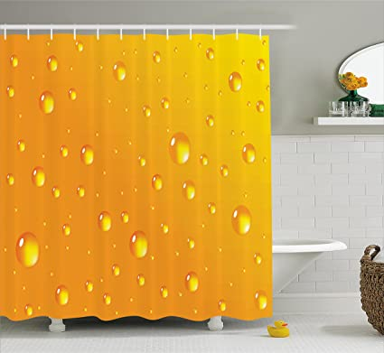 Ambesonne Abstract Shower Curtain By Water Rain Drops Style Bubbles On Vibrant Background Pastel Light