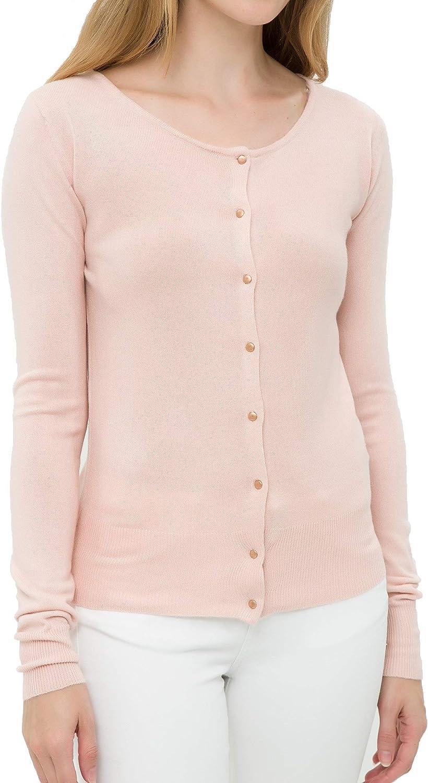 Such a Cliché Womens Cardigan - Cashmere-Like Long Sleeve Buttoned Fashion Cardigan
