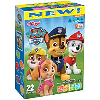 Kellogg's PAW Patrol, Assorted Fruit Flavored Snacks, Original, Excellent Source of Vitamin C, 17.6 Oz Box
