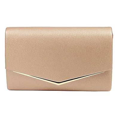 eb11f329f6280e Anladia Elegante Abendtasche im Envelope Kuvert Design Dame Umhängetasche  Envelope Handtasche Clutch Tasche mit abnehmbarer Kette