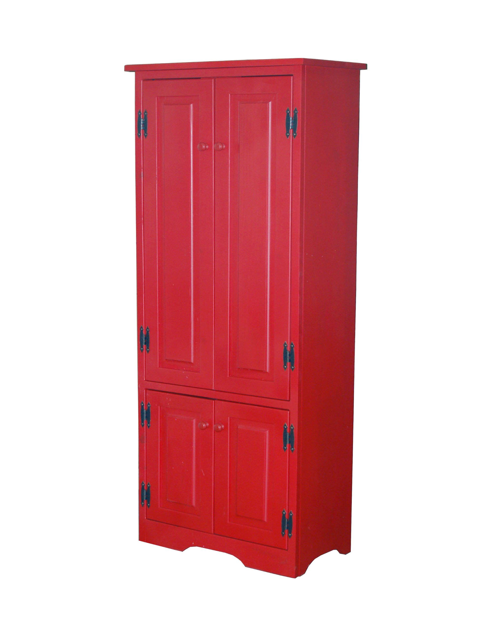 Target Marketing Systems Tall Storage Cabinet with 2 Adjustable Top Shelves and 1 Bottom Shelf, Red by Target Marketing Systems