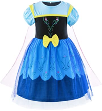 32623685d3e Padete Baby Girl Princess Anna Alice Elsa Little Mermaid Snow White Dress  Costume