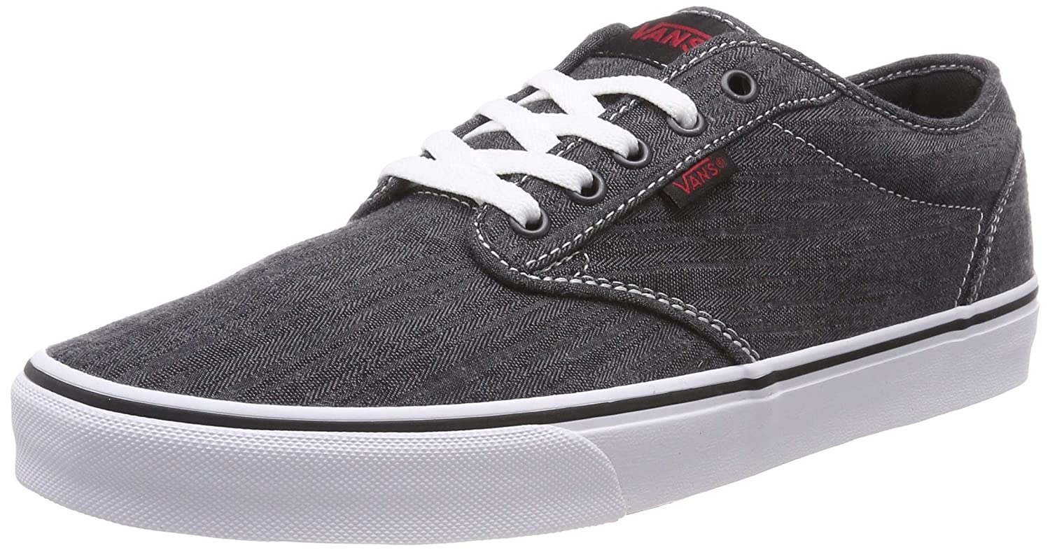 Vans Men's Atwood Low-Top Sneakers (6.5 M US, Black ((Distressed)  Black/White Iq4))