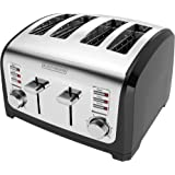 BLACK+DECKER T4030 4-Slice Toaster with Extra-Wide Toasting Slots, Stainless Steel