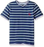 U.S. POLO ASSN. Boys' Engineered Stripe V-Neck T-Shirt