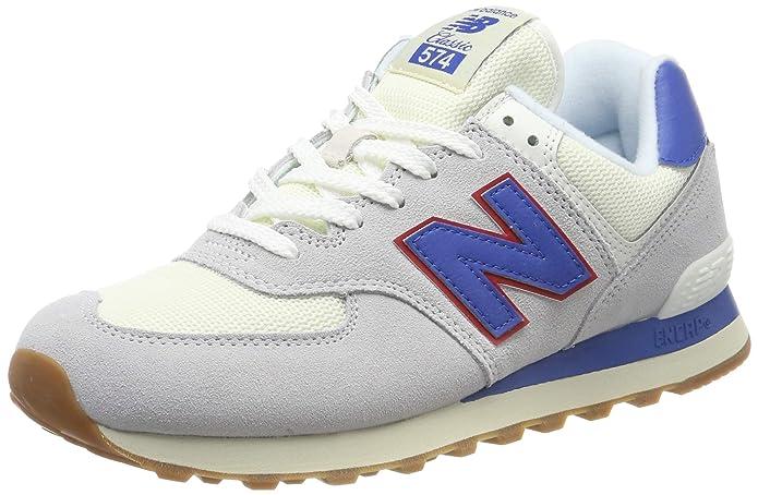 New Balance Ml574 D Sneakers Herren Hellgrau/Blau