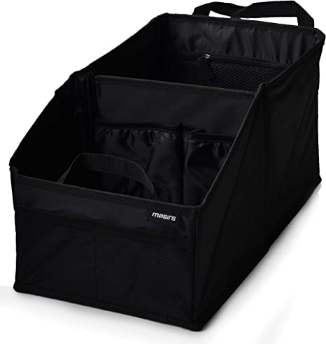 Image result for Back Seat Car Organizer - Plenty of Space to Neatly Store and Organize Your Kids Books, Toys, Games and Snacks While Traveling. A Must for Long Road Trips. Folds Flat for Easy Trunk Storage.