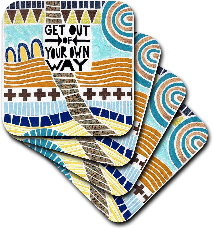 3dRose Chrissie Grace - Colorful Symbols - Peace Sign - Coasters (cst_338295_2)