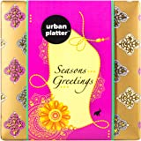 Urban Platter Raksha Bandhan Festive Gift Box, 100g / 3.5oz [Rakhi and Dry Fruit Gift Box Hamper]