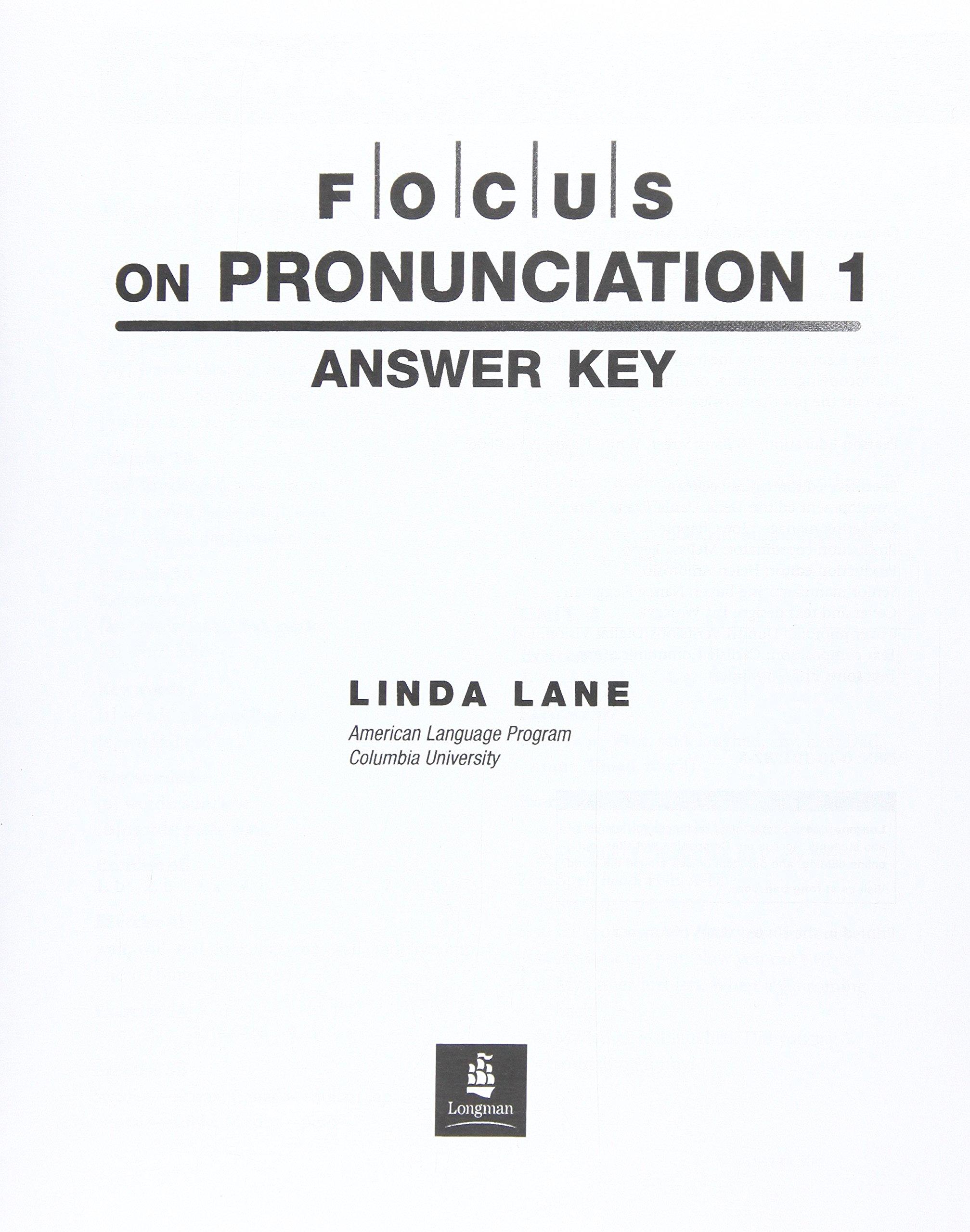 Focus on Pronunciation: Answer Key and Audio Script Pt.1 ebook