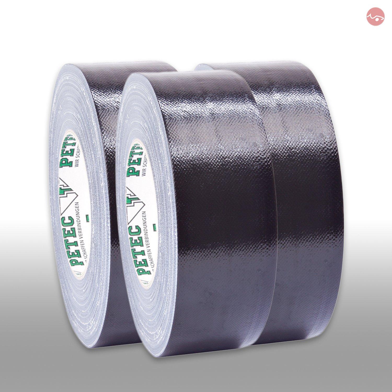 Petec/_bundle 3X PETEC Power Tape PANZERBAND SCHWARZ 50 mm x 50 M 86150