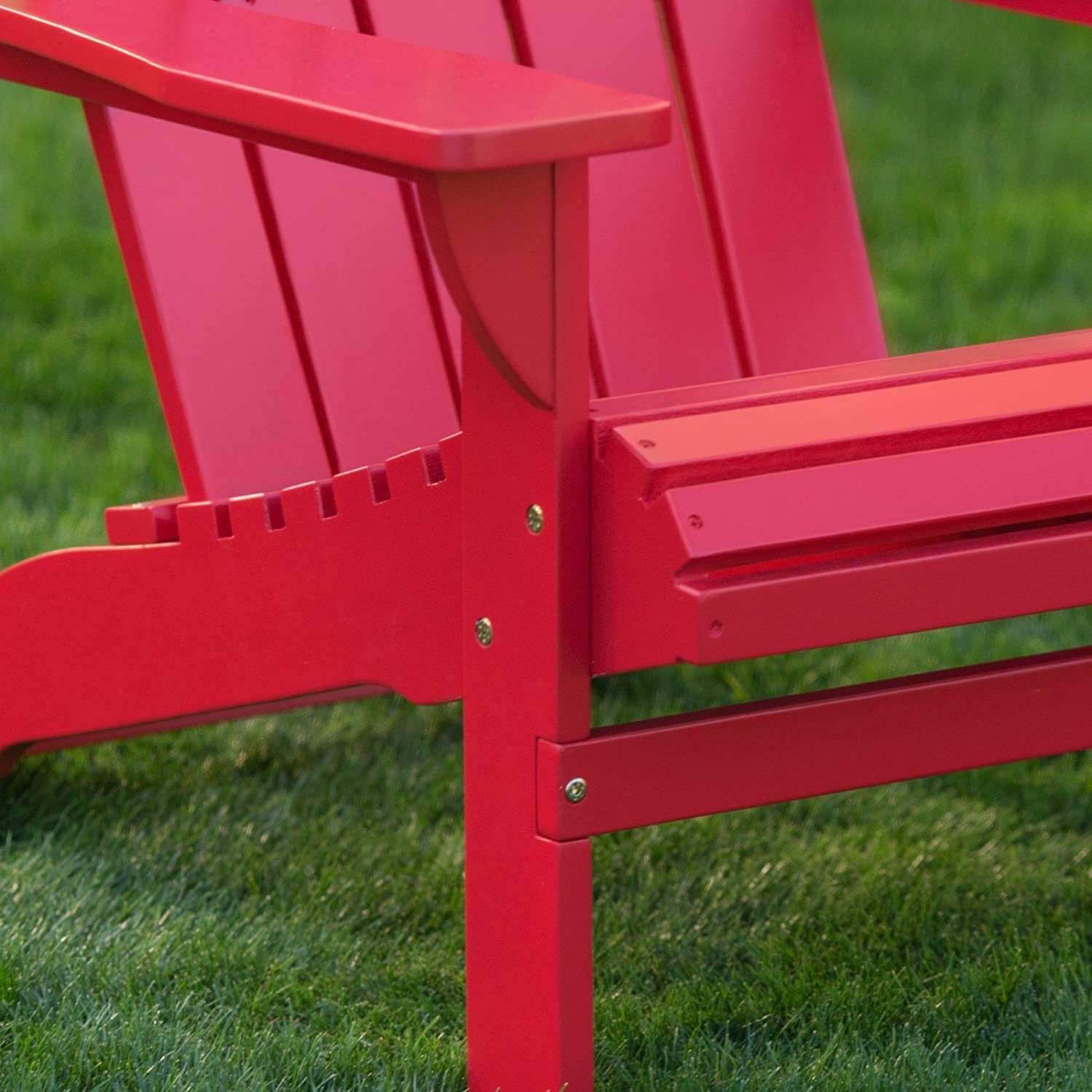 Amazon Belham Living Shoreline Adirondack Chair Red