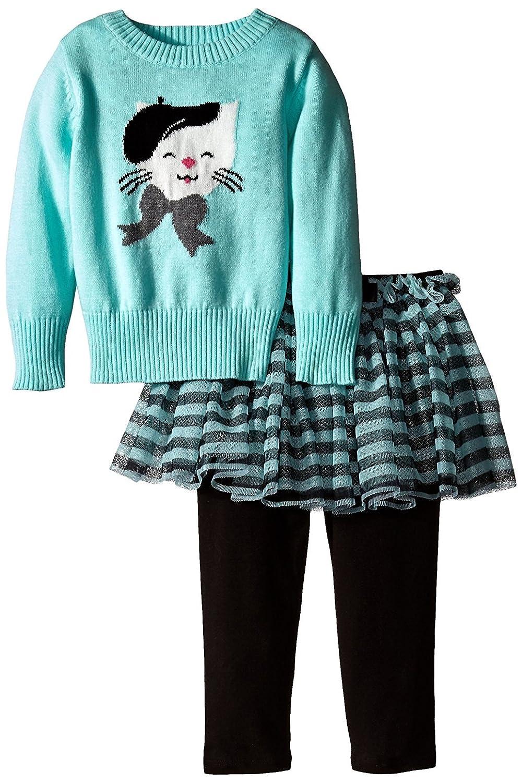2019激安通販 ボニーベビーベビー女の子幼児Cat Intarsia 6ヶ月、アクア) Sweaterレギンスとスカートセット3 – 6ヶ月、アクア) Intarsia – B01MXRTWB5, Region Free:ec93dde6 --- a0267596.xsph.ru