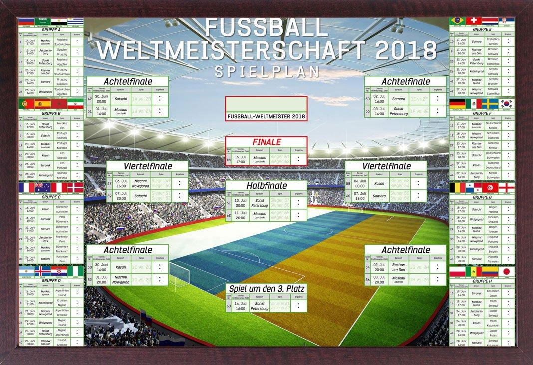 Fußball - WM Spielplan 2018 Weltmeisterschaft Russland Fussball ...
