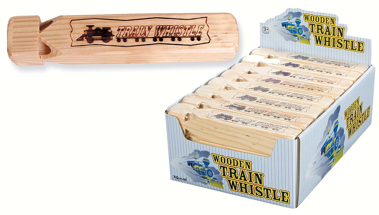Toysmith Wooden Train Whistle 6194 CA-6194