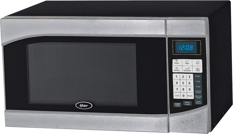 oster ogh6901 0 9 cubic feet 900 watt countertop digital microwave oven stainless steel black
