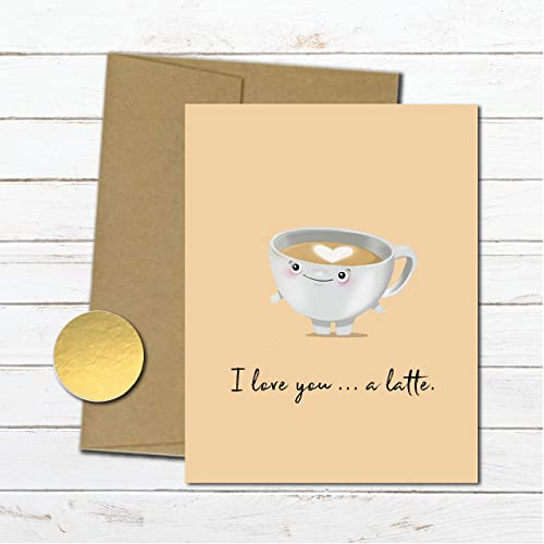 Amazon Latte Anniversary Card For Wife Husband Cute