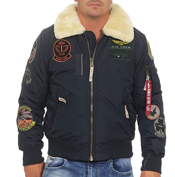 Alpha Industries Men Bomber Jackets Injector III Patch  Amazon.co.uk ... 718e47ef4caf