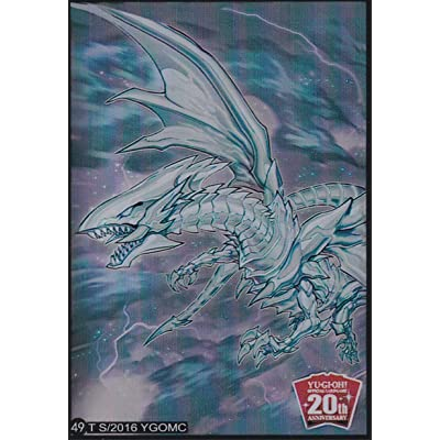 (100) Yu-Gi-Oh Standard Size Sleeve Blue-Eyes Alternative White Dragon Card Sleeves #49 62x89mm: Toys & Games