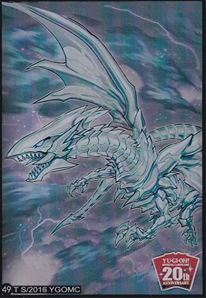 100 Yugioh Small Size Card Sleeves Deck Protector Blue-Eyes White Dragon