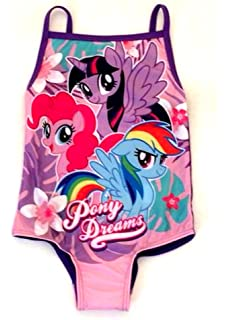 3b987ddd1f3d3 Girls My Little Pony Fluttershy Rainbow Dash MLP Swimming Costume ...