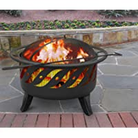 Deals on Patio Lights Steel Wood Burning Fire Pit