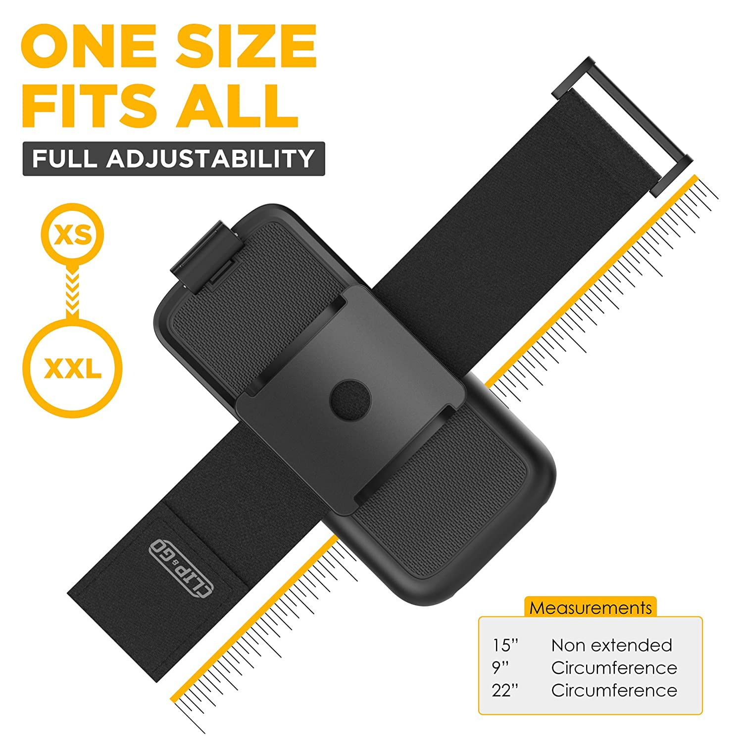 Fits All arm Sizes XS-XXL Non Slip Fully Adjustable Lightweight Gym Sports Band case not Included Encased Armband for Lifeproof Fre Case iPhone X