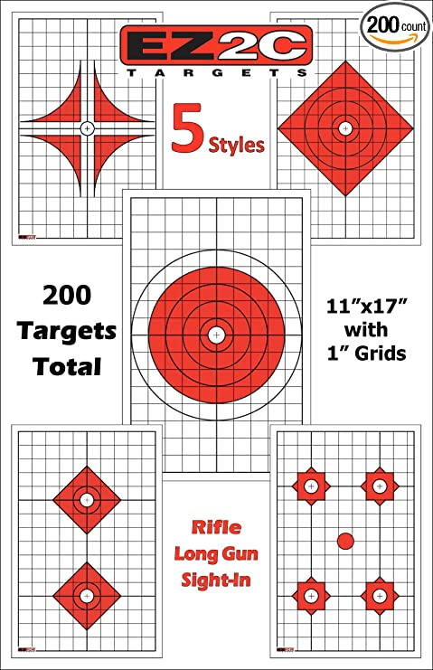 graphic regarding Printable Shooting Targets 11x17 titled EZ2C Thorough Rifle or Pistol Capturing Pack Large Visibility For Extensive Selection Accuracy Capturing Very long-Quantity Rifle Paper Aims Boost Precision