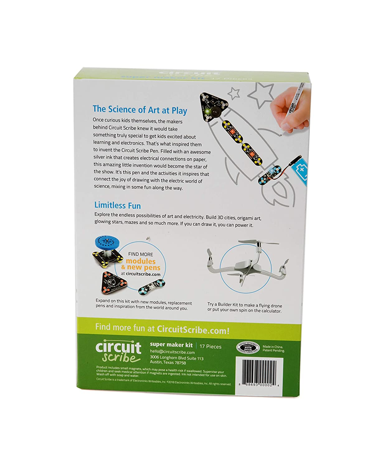 Circuit Scribe Maker Kit Includes Stem Workbook Board Images Of Conductive Silver Ink Pen And Everything You Need To Learn Explore Create Your Own
